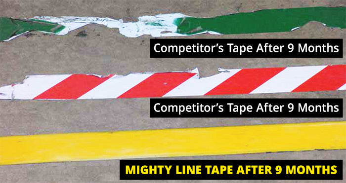 Mighty Line vs. Vinyl Floor Tape Comparison