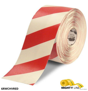 Mighty Line Diagonal Floor Tape (100' Long) - 5S Floor Tape LLC