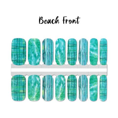 Beach Front Nail Wraps 100% Nail Polish Stickers Nail Strips