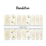 Dandelion Nail Wraps 100% Nail Polish Stickers Nail Strips