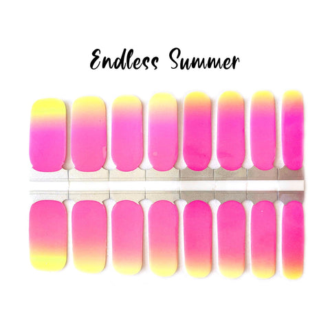 Endless Summer Nail Wraps 100 % Nail Polish Stickers Nail Strips