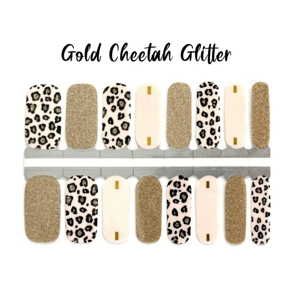 Gold Cheetah Glitter