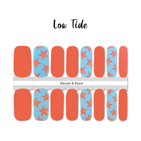 Low Tide Nail Wraps 100% Nail Polish Stickers Nail Strips