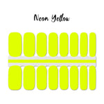 Neon Yellow Nail Wraps 100% Nail Polish Stickers Nail Strips