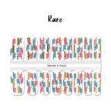 Rare Nail Wraps 100% Nail Polish Stickers Nail Strips