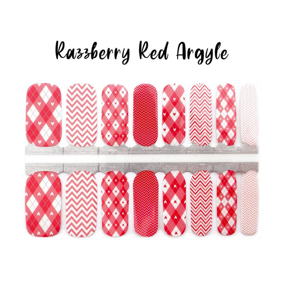 Razzberry Red Argyle