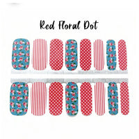 Red Floral Dot