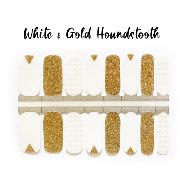 White & Gold Houndstooth