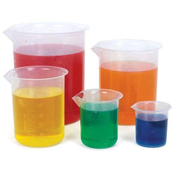 Plastic Beakers with Spout - 25ml
