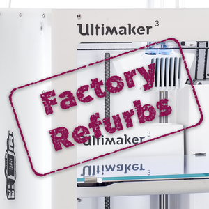 CloseUp of Ultimaker 3 with Refurb stamp