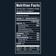 Chicken Tikka Masala Sealed Meal Nutrition Labels