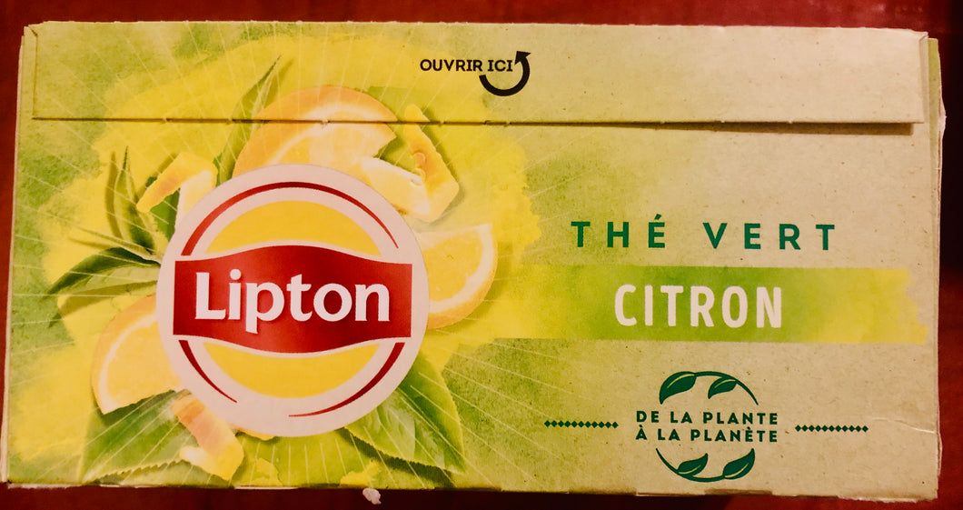 Lipton: LEMON Green Tea / Thé Vert Citron
