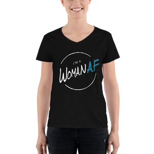 I'm a Woman AF Patreon Women's V-Neck Shirt