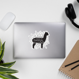 Llamas for Feminism Stickers