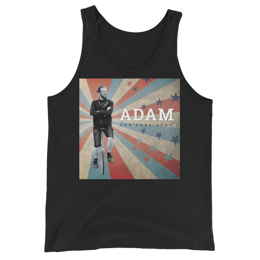 Adam for President Unisex Tank Top