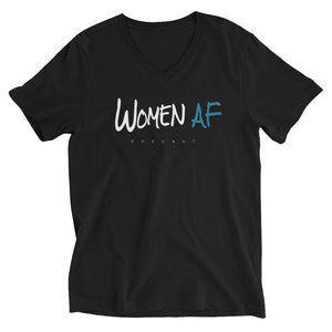 Women AF Logo Unisex Short Sleeve V-Neck T-Shirt