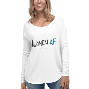 Women AF Logo Ladies' Long Sleeve Tee