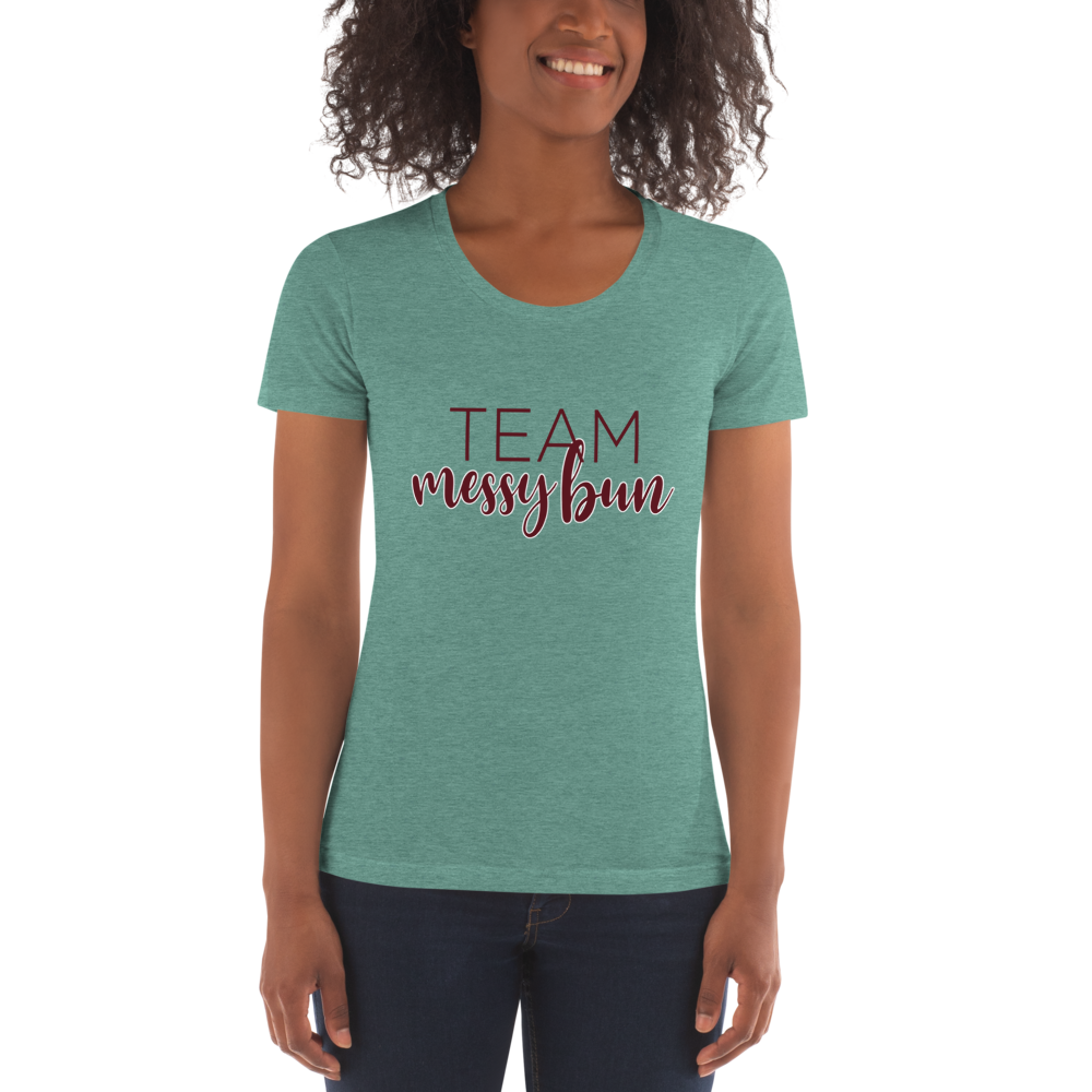 Team Messy Bun Women's Crew Neck T-shirt