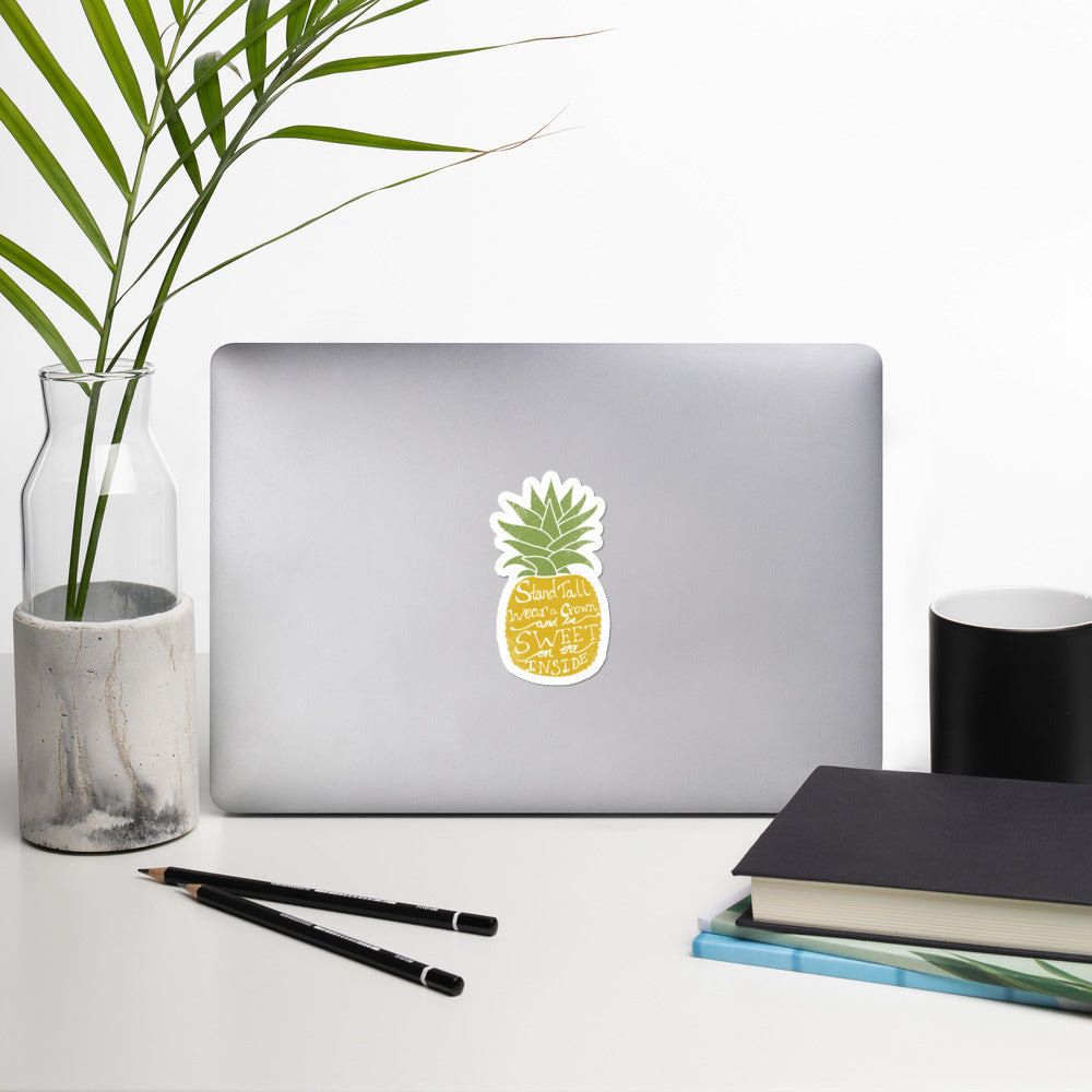 Be Kind Pineapple Sticker