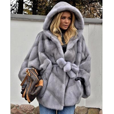 High Fashion Mink Fur Long Winter Jacket