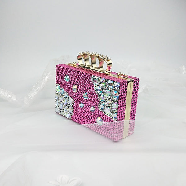 Crystal Embellishes Crown Purse and Matching Shoes
