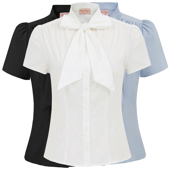Stylish Solid Color Short Sleeve - Shirt