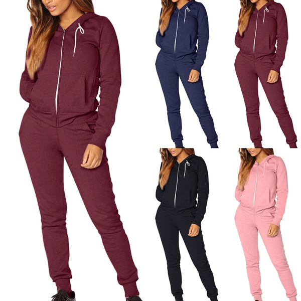 Hooded 2-piece Winter Sweat Suit