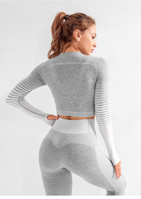 Long Sleeve Workout Top 2-piece