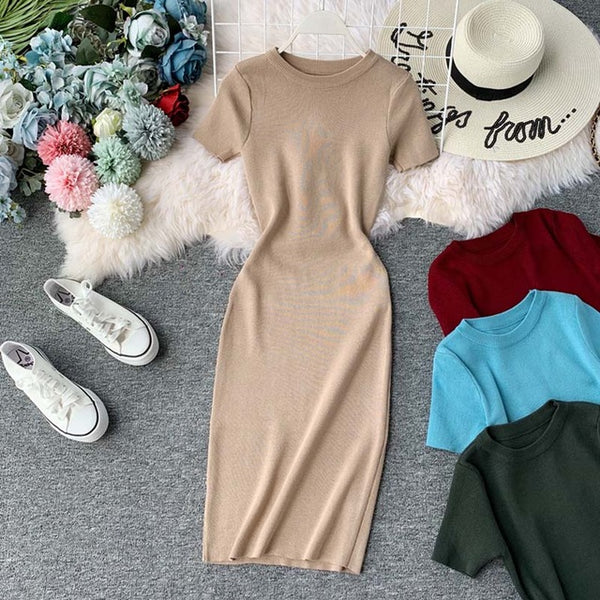 Knitted Comfy Bodycon Dress