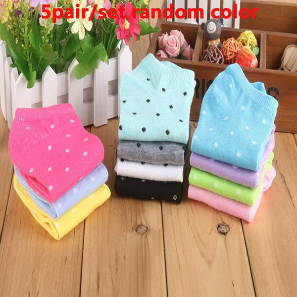 5 Pair Cotton Socks