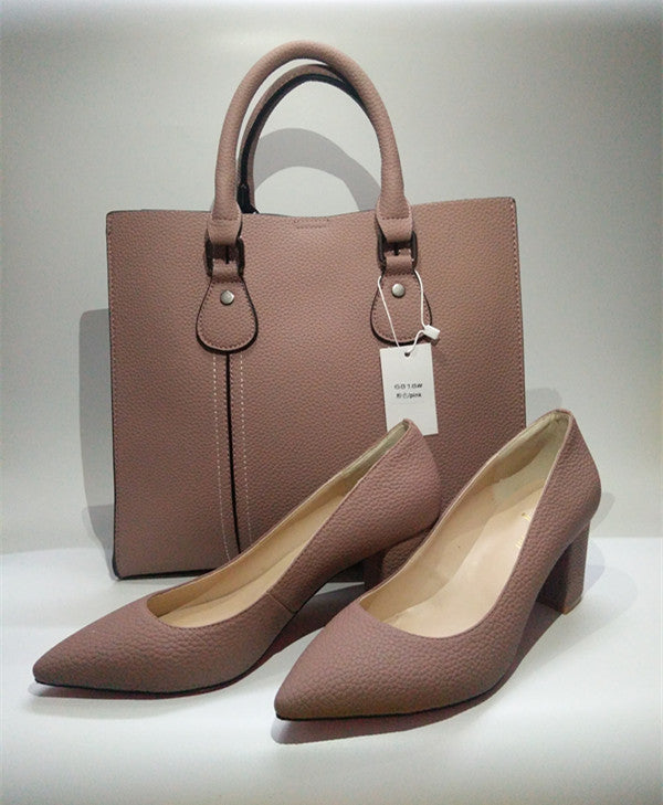 Simple Elegance Matching Shoes and Bag