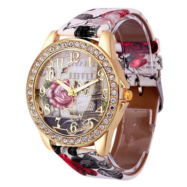 Colorful Leather Wristwatch