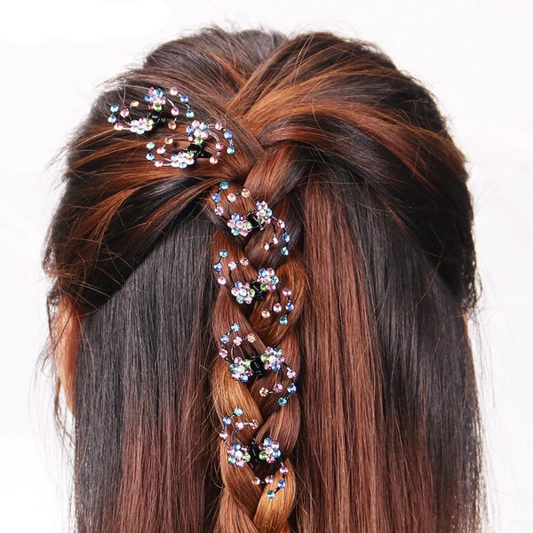 6PCS Rhinestone Hair Clips