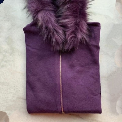 Faux Fur 2 piece Tracksuit