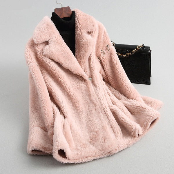 Wool Fur Winter Jacket