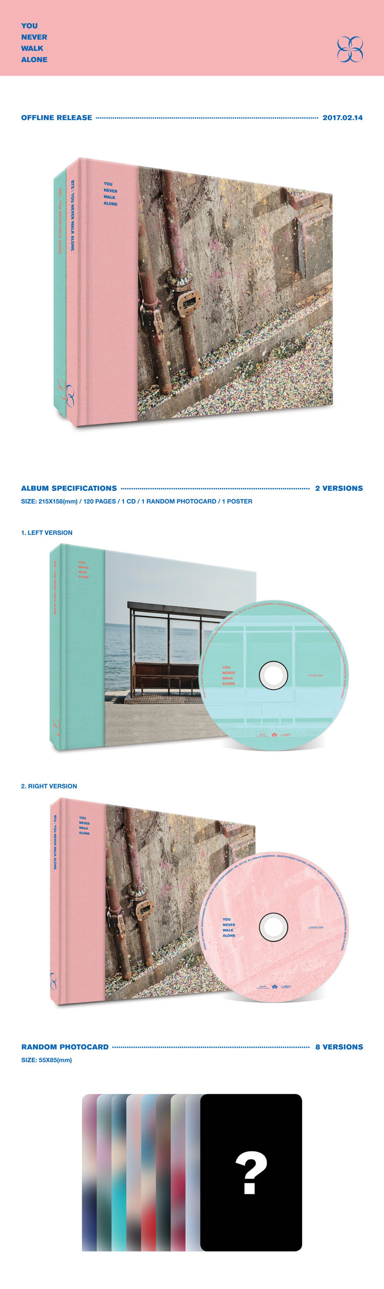 BTS - 2nd Album Repackage [You Never Walk Alone]