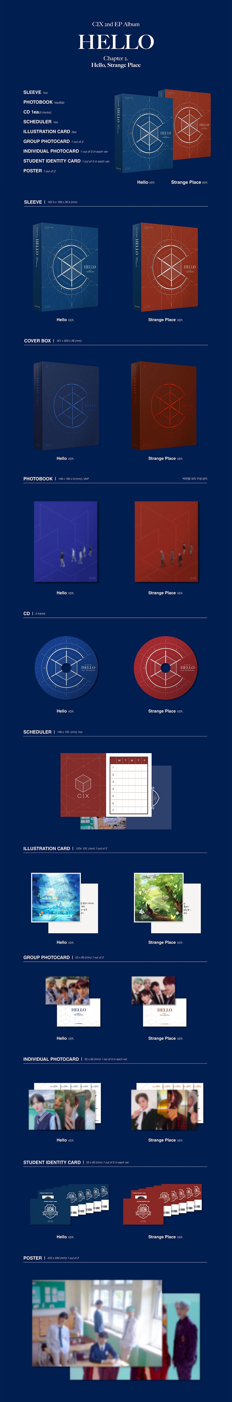 CIX - 2nd EP ALBUM [HELLO] Chapter 2. Hello, Strange Place