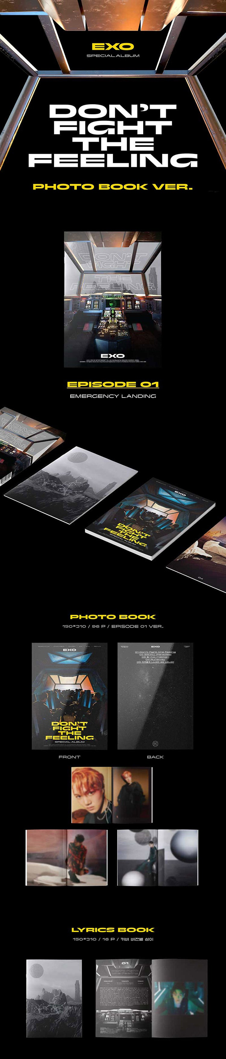 EXO - Special Album [Don't Fight The Feeling] Photo Book Ver.1