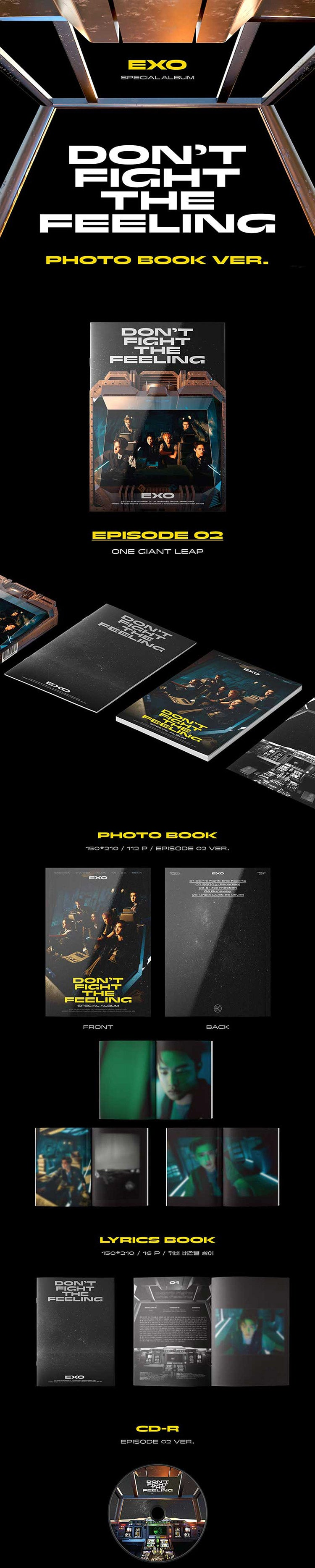EXO - Special Album [Don't Fight The Feeling] Photo Book Ver.2