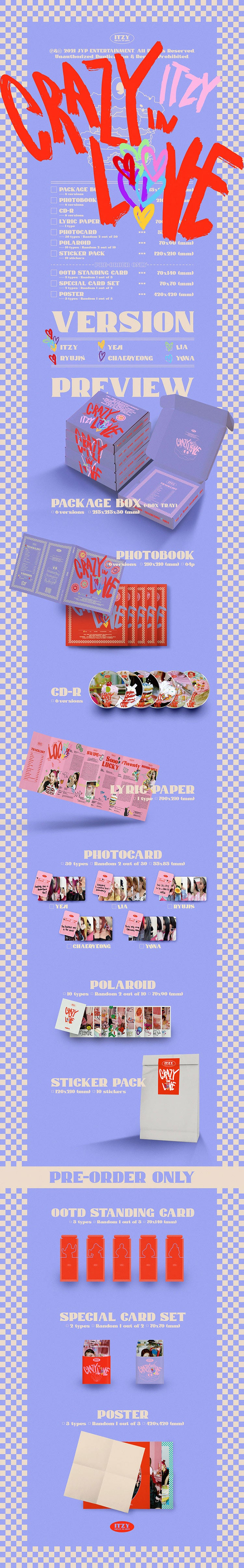 ITZY - The 1st Album CRAZY IN LOVE