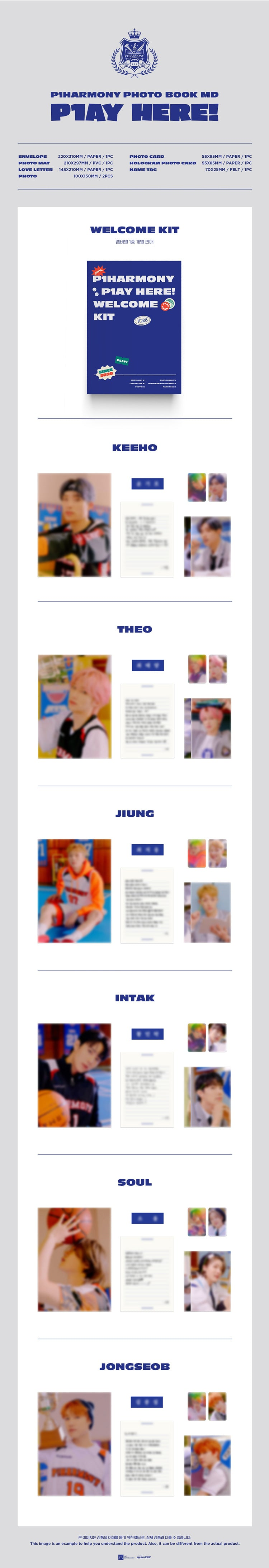 P1Harmony - Photo Book MD - Welcome Kit