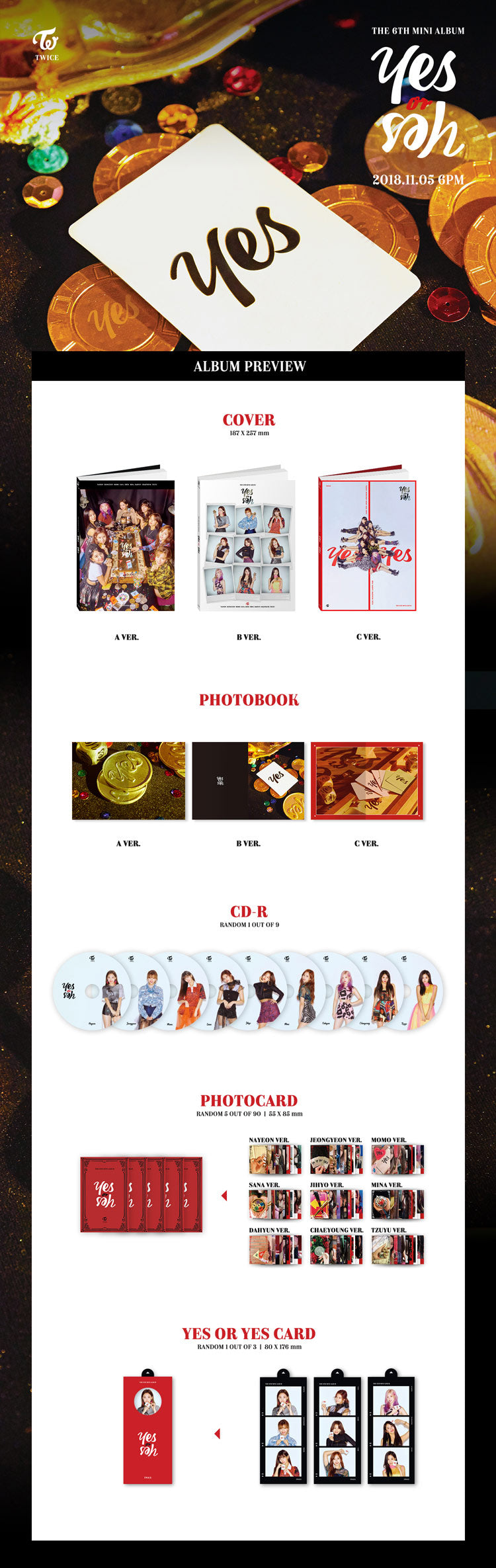 TWICE - 6th Mini Album [Yes or Yes] - KAVE SQUARE