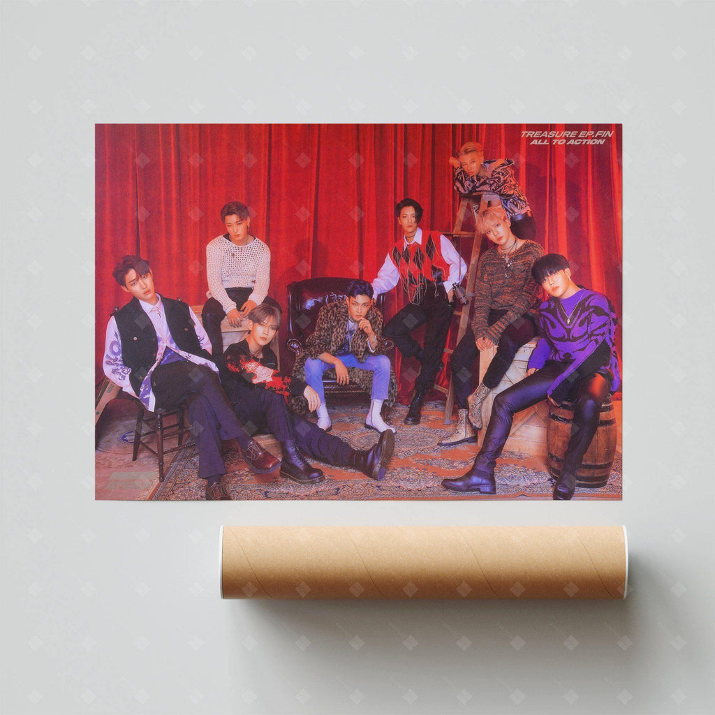 ATEEZ - 1st Regular Album [TREASURE EP.FIN : All To Action] Official Poster: Type A Poster KQ Entertainment