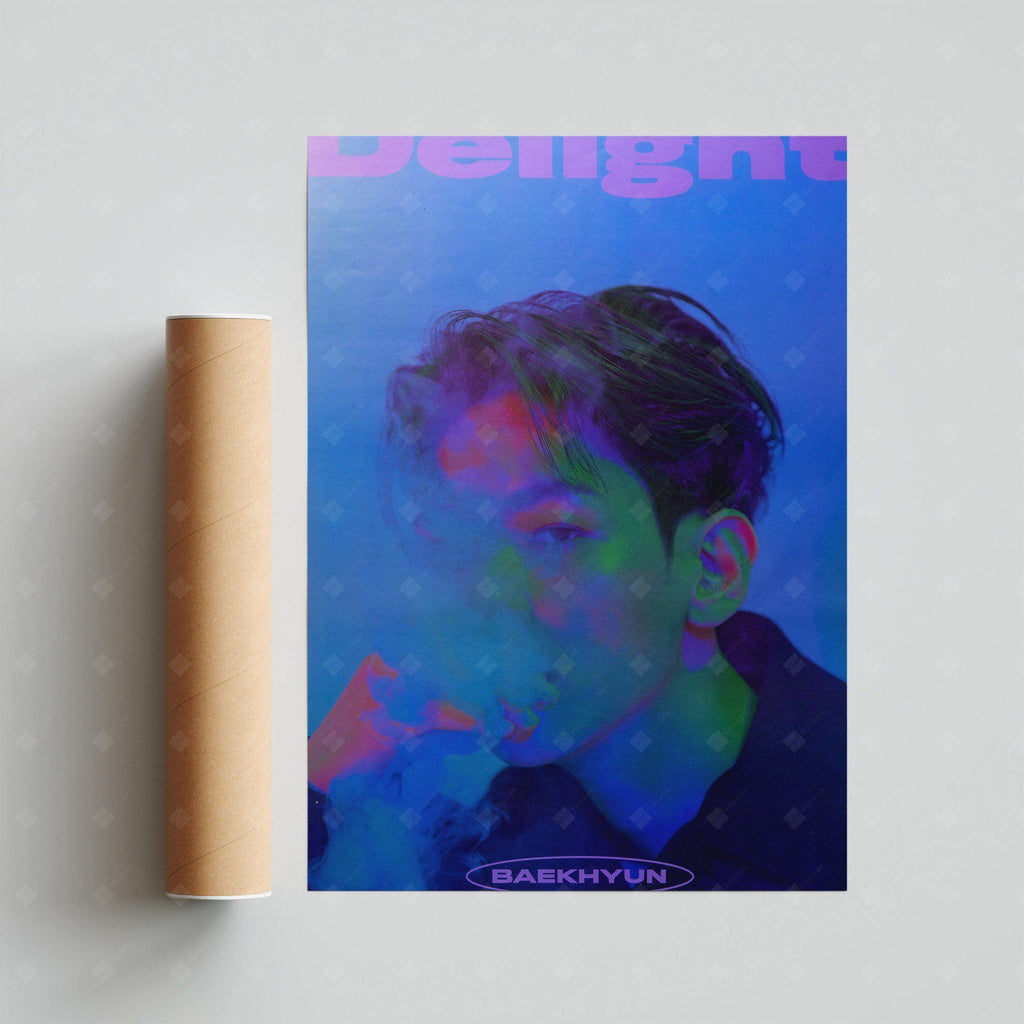 BAEK HYUN - Mini Vol. 2 Delight (Kit Ver.) Official POSTER: Cinnamon Ver. Poster SM Entertainment