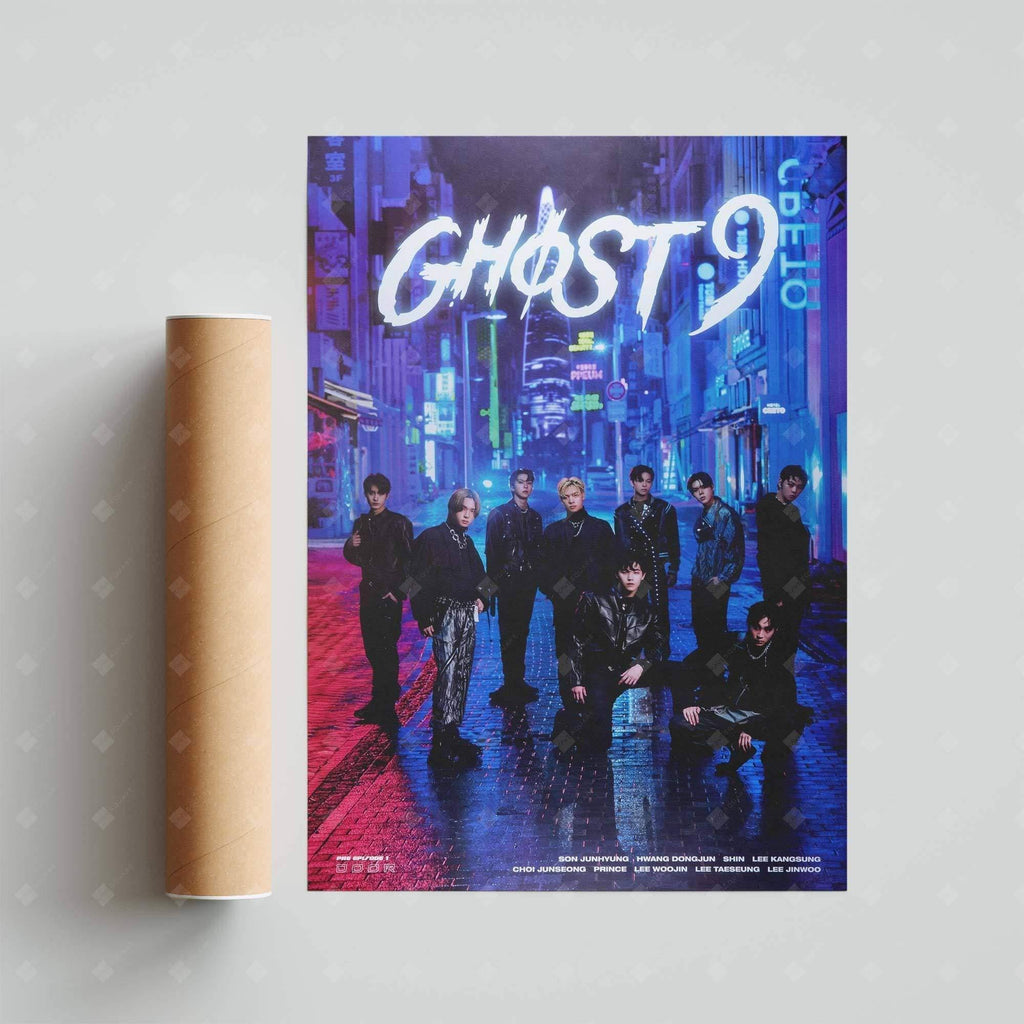 GHOST9 - 1st Mini Album [PRE EPISODE 1 : DOOR] Official Poster Poster NHNBugs