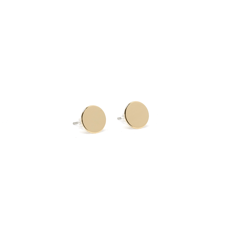 h flat w stud yellow ritani gold in earrings star