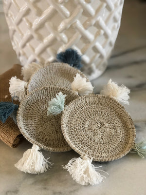 Hand-Woven Seagrass Coasters