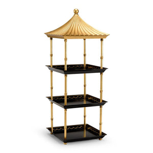 Black and Gold Tiered Pagoda