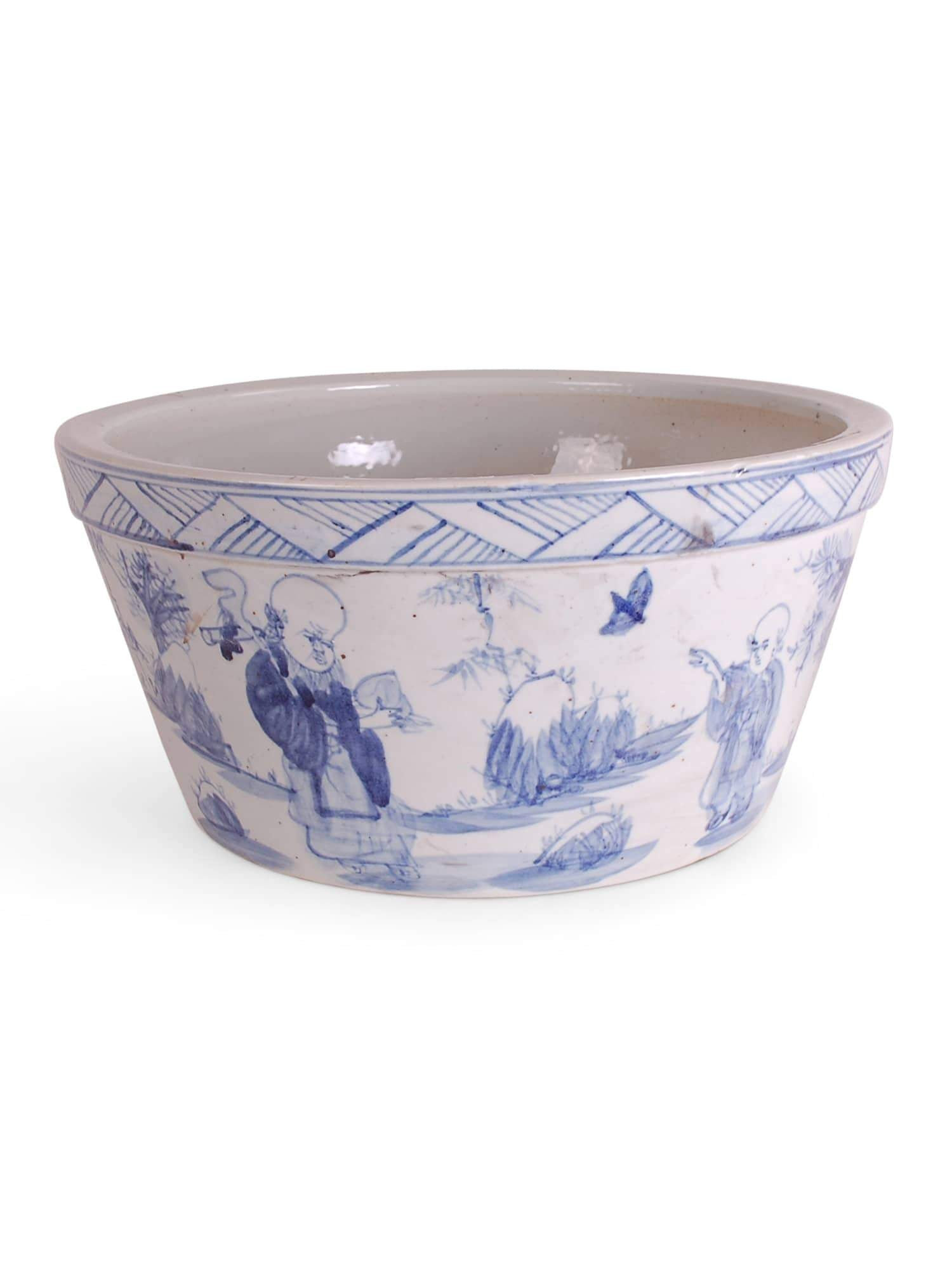 Blue and White Chinoiserie Bowl