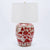 Coral & White Porcelain Jar Lamp